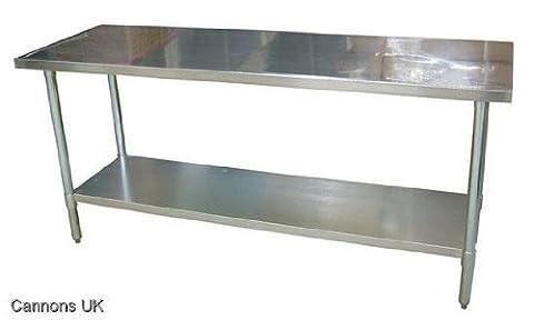 Cannons UK Table/plan de travail en inox pour cuisine 61 x 122 cm