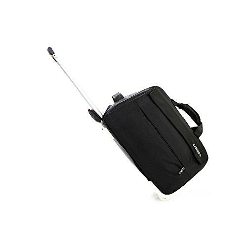 YAN Gepäcktasche mit Hebel Gepäcktasche Übergroße Leinwand Weekender Bag Reisetasche Herren Duffle Bag für Frauen & Männer mit separaten Schuhfach (Color : Black, Style : Small) -