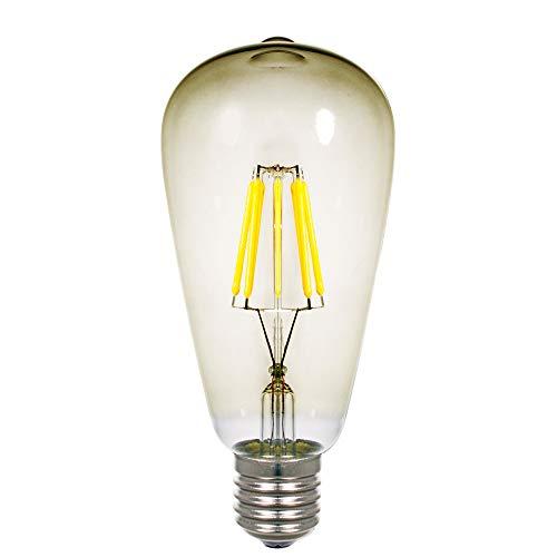130v Glühlampe (Lilideni AC110-130V 4W ST64 LED-Glühlampe Dimmbar Einstellbare Helligkeit 6-Pack Bernsteinfarben Farbe Lampenschirm E26 Sockel Sockel Tragbar für Wohnzimmer Schlafzimmer Restaurant Pendelleuchte)