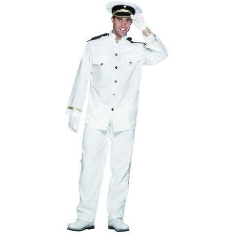 Captain - Disfraz de capitán de barco para hombre, talla L
