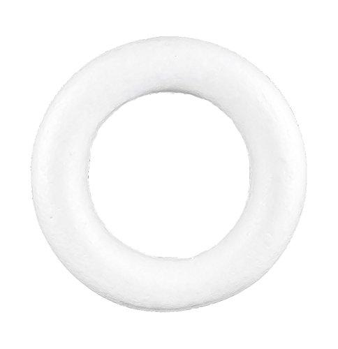 maDDma ® 2 Styropor Kränze Durchmesser 19cm, weiß