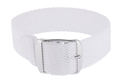 Minott 33015 Cinturino di ricambio intrecciato, in perlon, colore bianco,...