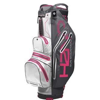 2019 H2NO Lite Cart Bag Sun Mountain - Stahl/Weiß/Pink