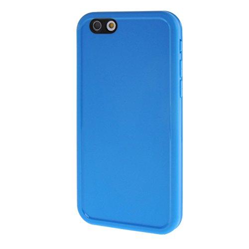 "MOONCASE pour Apple iPhone 6 / 6S (4.7"") Case 2 in 1 Silicone Gel TPU Housse Coque Etui Case Cover Blanc Bleu #0201"