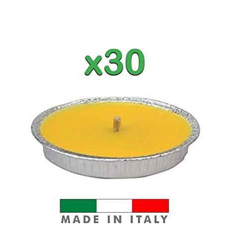 Palucart Candela citronella Giardino citronella Alluminio 18 Set da 30 Pezzi Giardinaggio antizanzare Feste ed Eventi