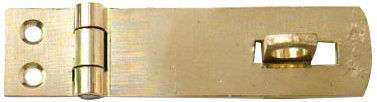 Bulk Hardware BH01802 Safety Hasp and Staple, 75mm (3 inch) - Polished Brass