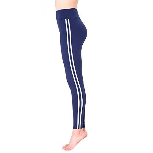 Pantalon de survêtement Fashion - Leggings décontractés pour femmes Pantalon de jogging Yoga Leggings simples (Blanc) Bleu polaire