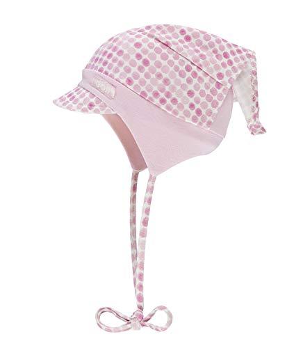 Rose Baby Hut (Döll Baby-Mädchen Kopftuchmütze mit Schirm zum Binden Jersey Sonnenhut, Rosa (Pink Lady|Rose 2720), 41)