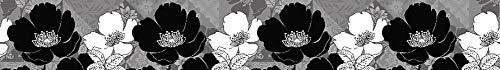 AG Design Blumen, Selbstklebende Grenze für Küchenwände, Wohnzimmer, Schlafzimmer, Landhaus, 5 m x 14 cm. Blume Grenze