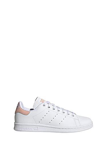 adidas Stan Smith J, Zapatillas Unisex Niños, Multicolor FTWR White/Glow Pink Ee7571, 38 2/3 EU