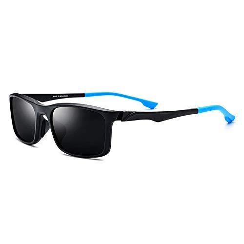 Unisex Farbe Brille Beine Grau Objektiv UV400 Schutz TR90 Sportbrille Outdoor Fahrrad Fahren Polarisierte Sonnenbrille Brille (Farbe : Blue)
