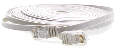 1aTTack Cat5e 2X RJ45 Stecker Flach Netzwerk Patch-Kabel 30m (6-pin Laptop Flachbandkabel)