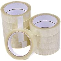 "6 Rolls of Cellotape 1"" x 66m, Clear Parcel / Packaging Tape"