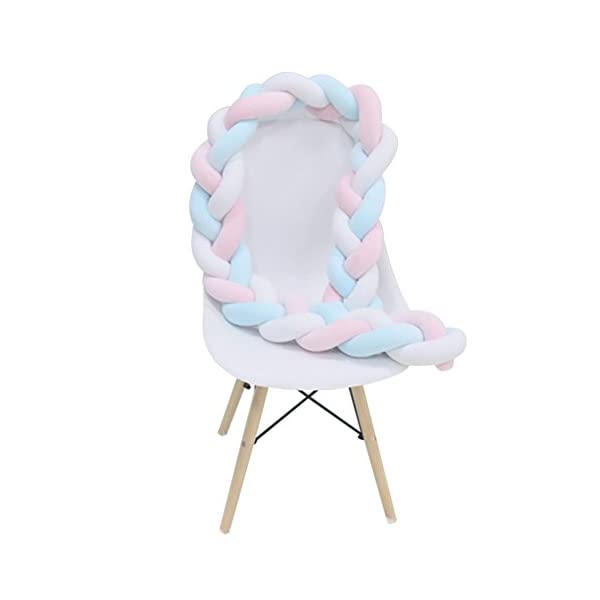 elegantstunning Baby Crib Bumper Knotted Braided Plush Nursery Pillow Cushion elegantstunning Made of high quality material, soft and comfortable, safe, durable. Avoid your baby's head, legs or hands bumping into crib, keeps your little ones safe. Fits all baby cribs or toddler stroller carriage, flexible to use. 13