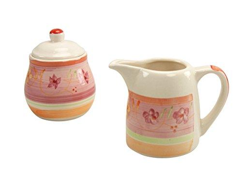 Creatable, 18835, Serie Flower Serenade Viva, Zucker-Set 2 TLG Milch und Zuckerset, Porzellan, Mehrfarbig, 20 x 11 x 13 cm, 2-Einheiten