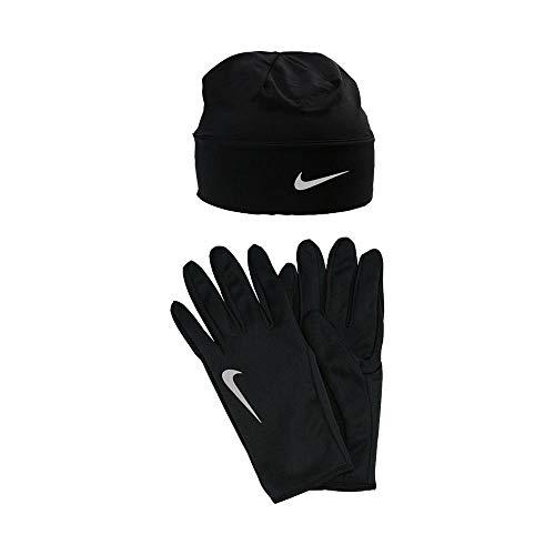 Nike Dry Mütze und Handschuh Set Herren Mütze&hanschuh, schwarz/Silber, S/M