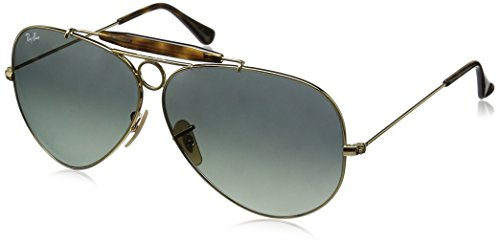 Ray Ban Herren Sonnenbrille Aviator Shooter Gold/Lightgreygradientdarkgrey One size (62)