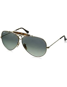 Ray-Ban Gafas de sol de aviador shooter en oro verde RB3138 181 62