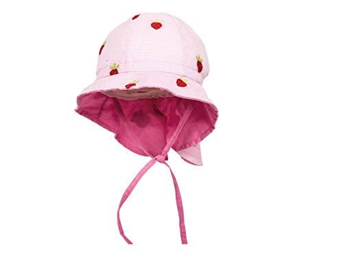 apper mit Nackenschutz, rosa/rot mit Erdbeeren (45) ()