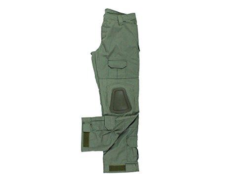BEGADI Basics Combat Pants / Hose, mit 10 Taschen & abnehmbaren Knieschonern - alpha green / olive (Olive Acu Hose)
