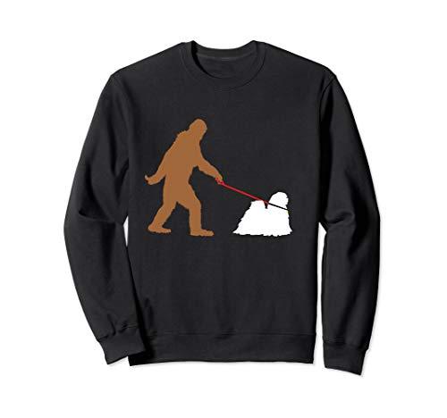 Bigfoot Walking Lhasa Apso Hund Sasquatch Sweatshirt -