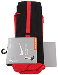 Nike Hyperelite Basketball CRE - Calcetines Unisex, Color Negro/Rojo, Talla M