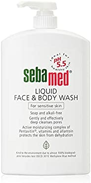 Sebamed Liquid Face and Body Wash for Sensitive Skin, 1000 ml