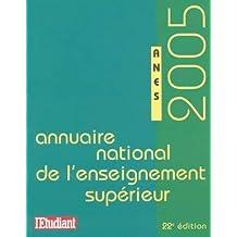 Annuaire national de l'enseignement supérieur 2005