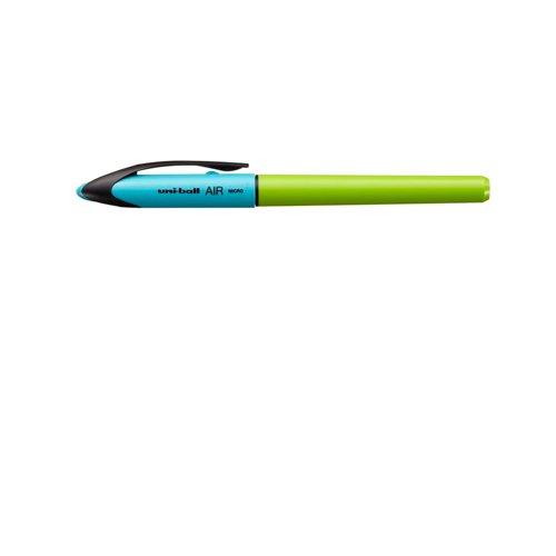 UNI-BALL Roller Air Micro UBA-188-M. Bola 0,5 mm. DUO azul-verde lima. Tinta negra. 210559000
