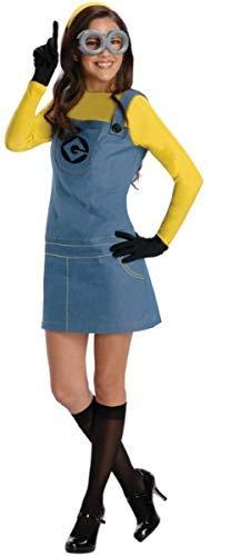 Fancy Me Damen 5 Stück lizensiert Verächtlich Mir Diener büchertag Halloween Kostüm Kleid Outfit UK 6-18 - Gelb, Gelb, UK 6-8 (EU 32-34)