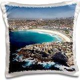 Sydney - Australia, New South Wales, Sydney, Bondi Beach - aerial 16x16 inch Pillow Case
