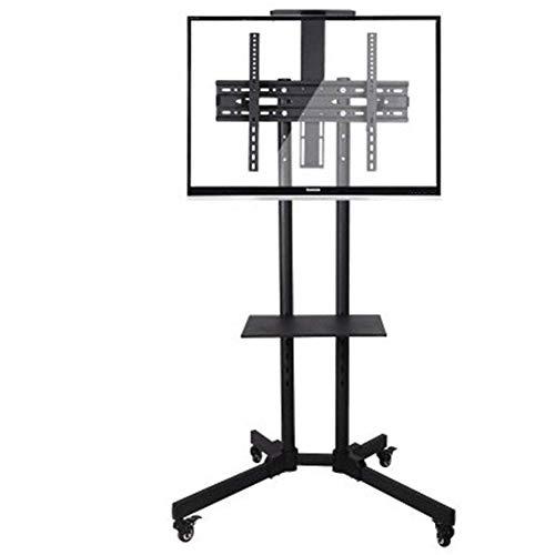 SuRose TV Fernseher Ständer Höhenverstellbar TV Mobile Ständer, Geeignet für 32-65 Zoll LCD-Fernseher. Mit Zwei Fächern Schwarz
