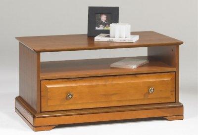 ACTUAL DIFFUSION 67351 Alsace Table Basse avec Tiroir Traversant Bois 46,5 x 82 x 42 cm