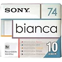 Sony Bianca serie MiniDisk 74 min 10 unidades grabable MD