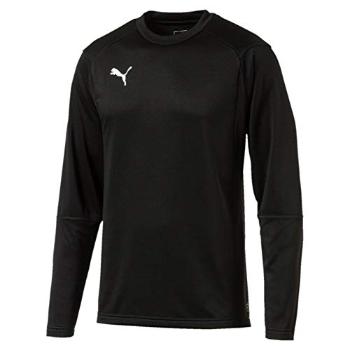PUMA Herren Liga Training Sweat Sweatshirt, Black White, XL