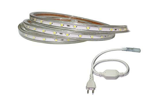 15 Meter Professioneller Warmweißer LED Streifen (60 LED/m, IP68, 230V)