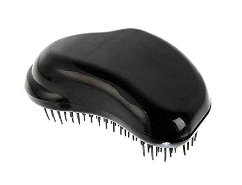 Leisial Peigne à Cheveux en Plastique Parfaite pour le Démêlage Brosse à Cheveux Pour les Cheveux Longs et Humides(Noir)