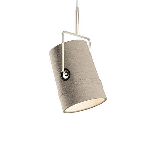 Diesel With Foscarini Fork Petite lampe suspendue avec structure ivoire et diffuseur gris