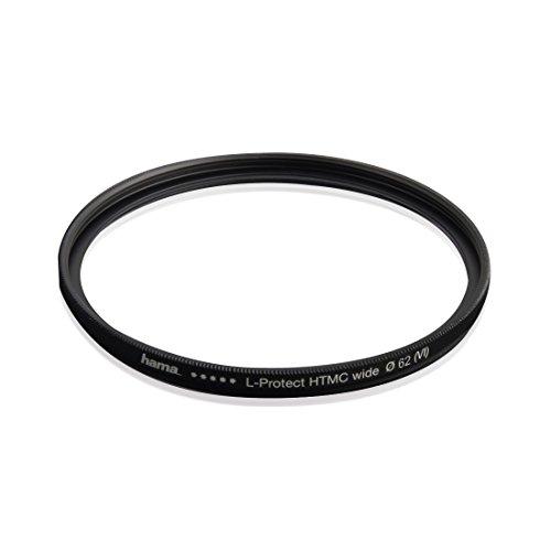 Hama UV Filter HD 62 mm Slim (Objektivschutz, 3 mm flache Metallfassung mit Frontgewinde, mehrfach vergütet HTMC, inkl. Filterbox)
