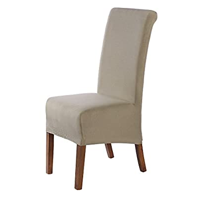 SCHEFFLER-HOME Emma Chaircovers 2 pieces, Stretch Chair Cover, Bi-elastic modern Slipcover, Decor Lycra fabric Protective Cover with elastic band, universal nosefitting by spandex, elastic Span-Cover, Possible seat height coverage 20-24 cm produced by Man