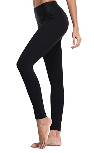 Charmo Damen Solid Farbe Jogginghose Hohe Taille Trainingshose Tummy Kontrol Leggings Pilates Hose M