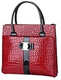 Tradico® Tote Purse PU Leather(red)
