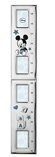 Disney topolino mickey mouse - metro per bambini da parete per decorazioni cameretta con cornici porta foto in argento