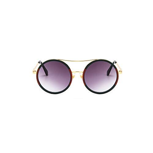 WJFDSGYG Brille Grün Rot Runde Sonnenbrille Frauen Designer Sonnenbrille Weiblich Optische Brille Brillen Frauen