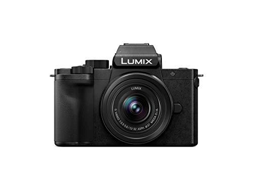 Oferta de Panasonic Lumix DC-G110KEG-K - Cámara de Sistema (20 MP, 4K, estabilizador de Imagen, Visor, táctil de 7,5 cm, Objetivo de 12-32 mm), Color Negro
