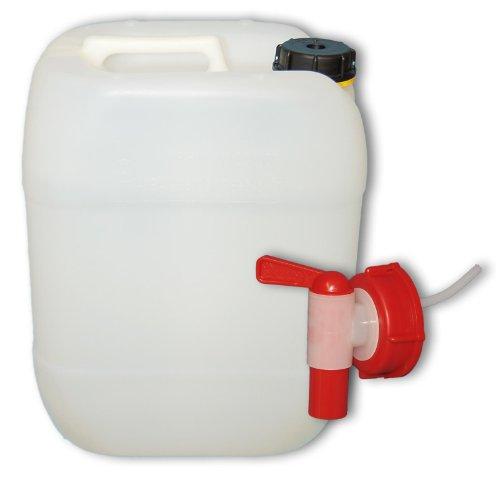 20 L Wasserkanister mit Hahn, DIN 61