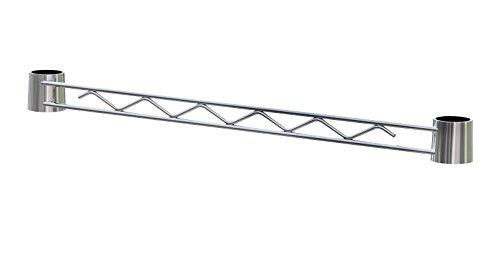 Archimède système de contreventement modulable, métal, chromé, 121 x 2,5 x 4 cm