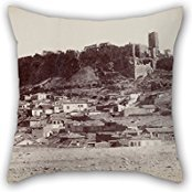 Artistdecor Pillow Shams Of Oil Painting Normand Alfred Nicolas - The Northwest Side Of The Acropolis And The Surrounding Area,for Kids Room,wedding,study Room,girls,wife,chair 20 X 20 Inches /