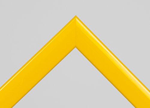 Bilderrahmen Abcega - Gelb glänzend 50x70cm 70x50cm hier mit entspiegeltem Kunstglas