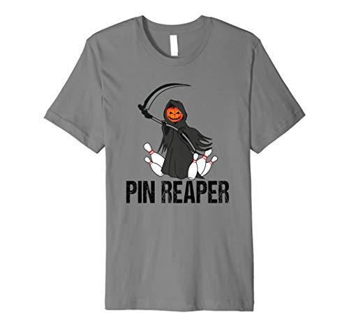 Funny Halloween Bowling TShirt Pin Reaper Team League